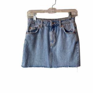 Topshop Denim Mini Skirt Light Wash Blue 2